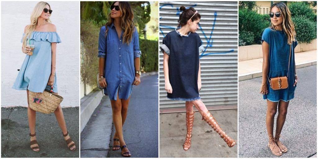 Como usar: Vestido Jeans – Carol Doria