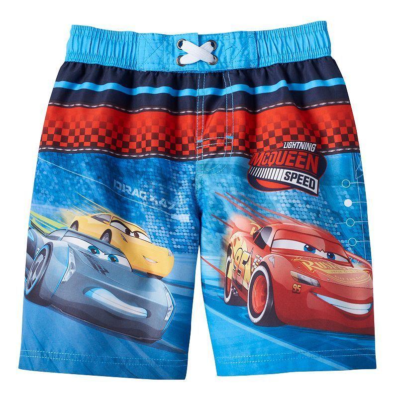 d55ecc419a Disney / Pixar Cars 3 Jackson Storm, Cruz Ramirez & Lightning McQueen Boys  4-7 Boardshort Swim Trunks, Boy's, Size: