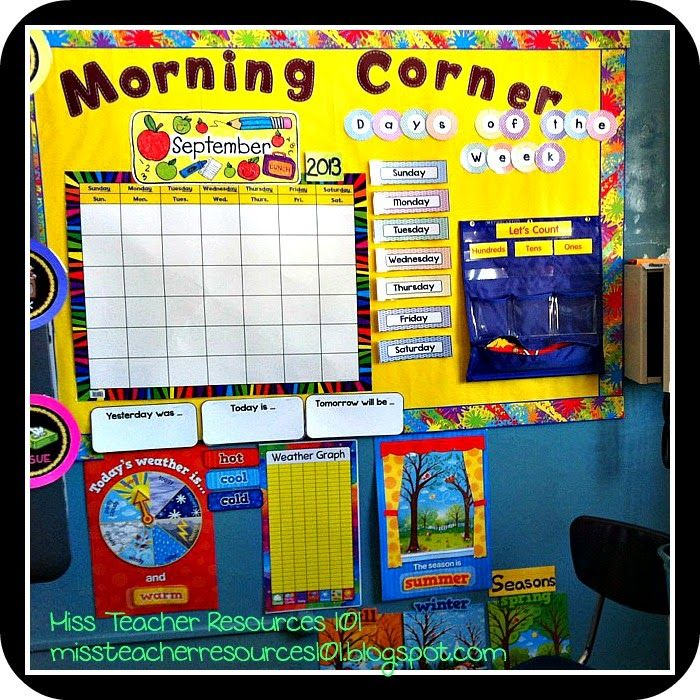 Classroom Board Decoration For Preschool : Classroom organization decor