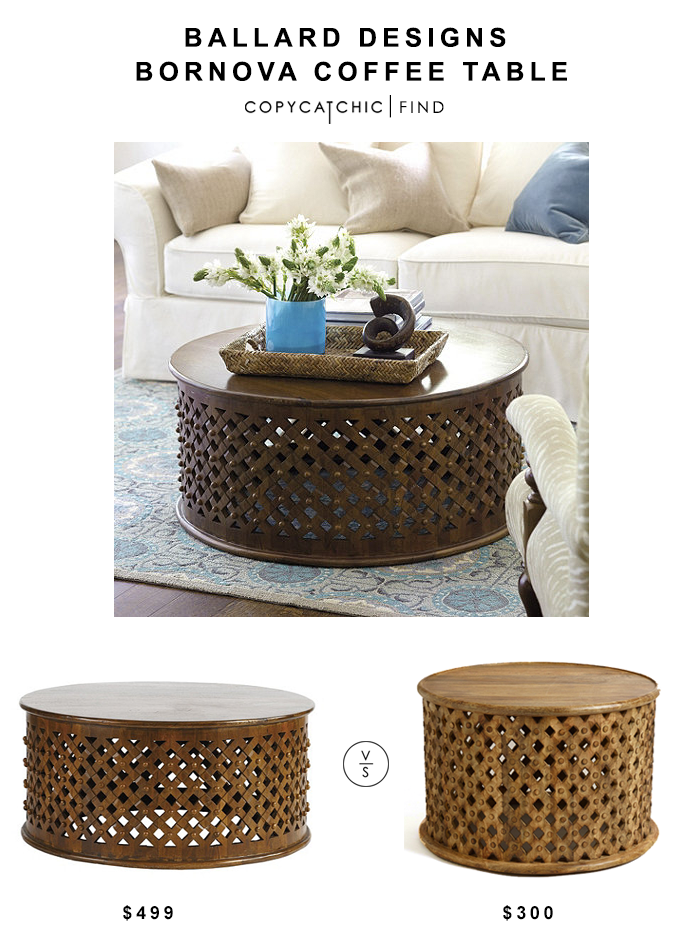 @ballarddesigns Bornova Coffee Table $499 Vs Cost Plus @worldmarket Tribal  Carved Coffee Table $300