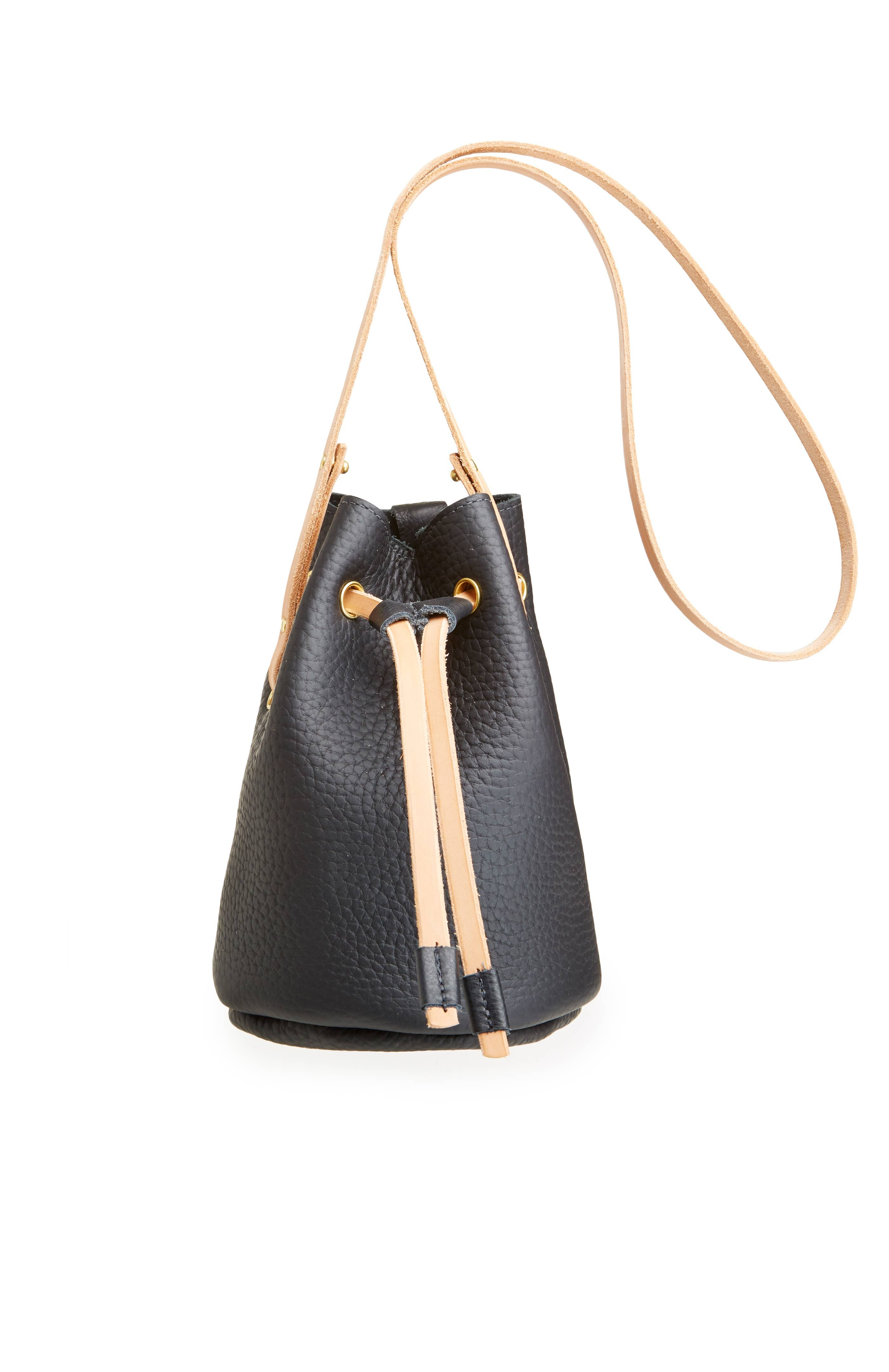 DailyLook: CHC Small Leather Bucket Bag in Black