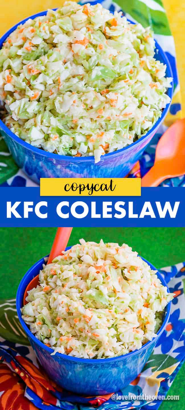 Easy Kfc Coleslaw Recipe Copycat This Tastes Exactly Like The Coleslaw From Kentucky Fried Chicken My H In 2020 Kfc Coleslaw Recipe Coleslaw Recipe Easy Kfc Coleslaw