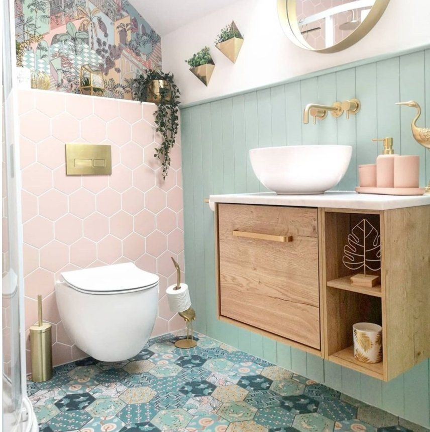 Gorgeous Pink Bathroom Ideas And Inspiration Ideas Inspo Small Bathroom Inspiration Small Bathroom Decor Pink Bathroom