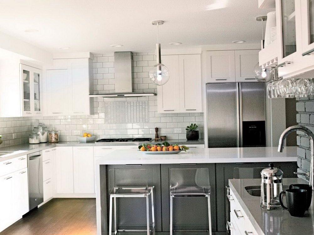 Modern Kitchen Backsplash With White Cabinets Kitchen