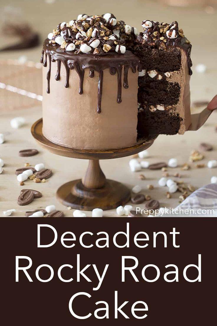 Rocky Road Cake - Preppy Kitchen