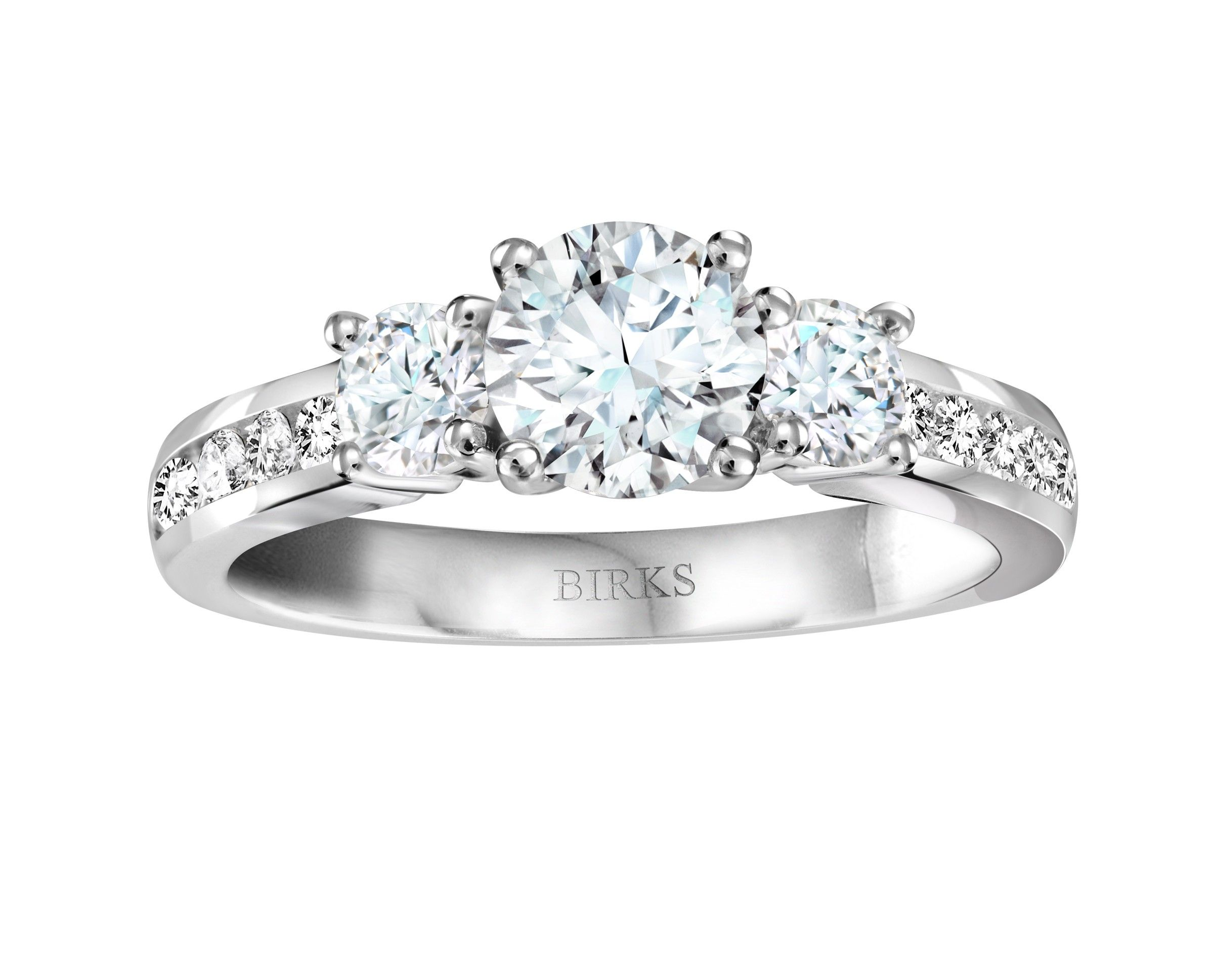 Birks Blue 3 Stone Channel Canadian Diamond Engagement Ring Canadian Diamond Engagement Ring Morganite Engagement Ring Set Pink Morganite Engagement Ring