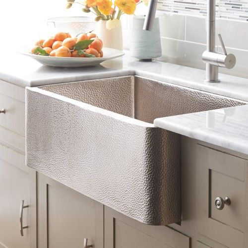 Farmhouse 30 In Brushed Nickel Apron Sink Kitchen Apron Front Kitchen Sink Farmhouse Sink Kitchen