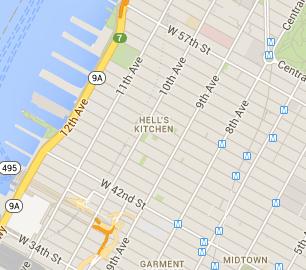 Hells Kitchen New York Map.Best Hell S Kitchen Outdoor Seating Restaurants New York Dining