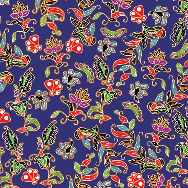 Singapore Style Batik Peranakan Batik Pattern Singapore Art Print Design Art