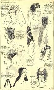 Resultado de imagen de tocados medievales de mujer | Moda ...