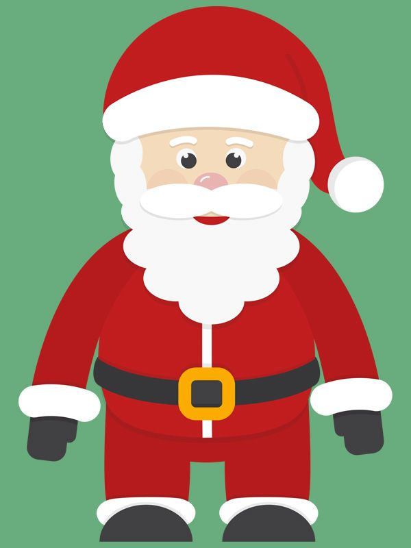 La Foto Di Babbo Natale.Sagome Di Babbo Natale Da Stampare E Ritagliare Babbo Natale Natale Idee Di Natale