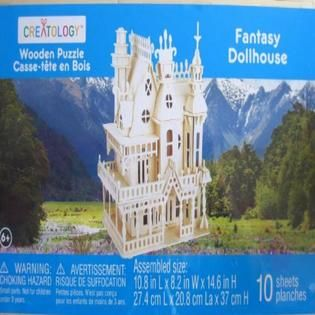 The Fantasy villa 3D wooden puzzle is a challenging and creative toy made of…