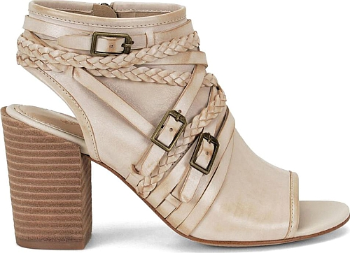 Isola Leonora Women's Bone Sandal. Shoes Heels BootsSmooth LeatherOpen Toe CushionsZippersRocksCreamClosureSandals