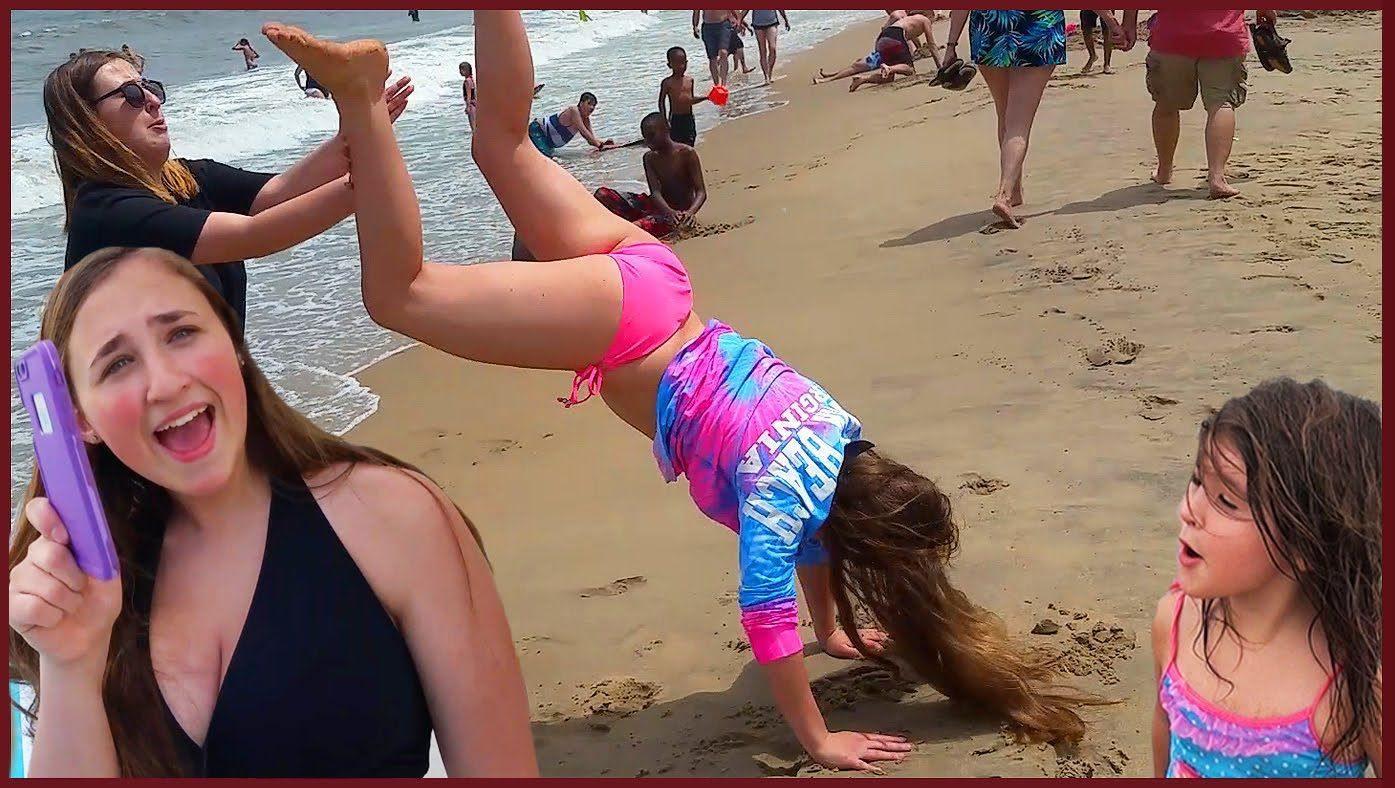 girls handstand fails iphone
