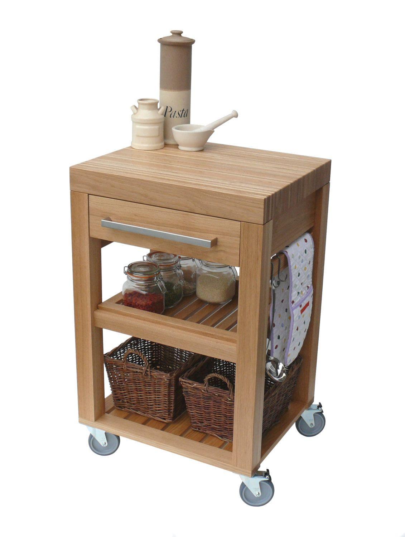 Kitchen Trolley Butchers Block Trolley Solid Oak Kitchen Cart Kitchen Island Worktop Storage Desserte Cuisine Cuisine