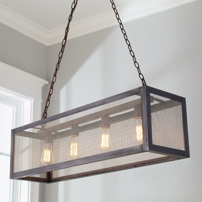 Industrial Mesh Island Chandelier Metal Lighting Rustic Chandelier Pool Table Lighting