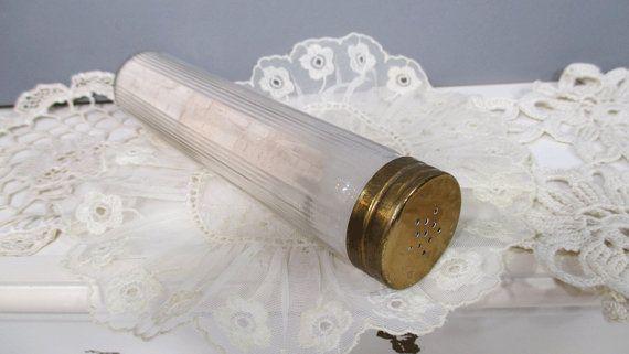 Glass Talcum Powder Shaker Bottle with di UrbanRenewalDesigns, $15.00