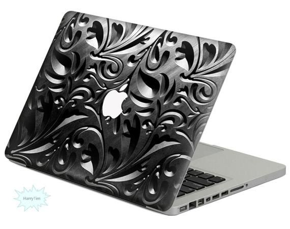 Metal Pattern Decal Mac Stickers Macbook Decal Macbook Stickers Apple Decal Mac Decal Stickers