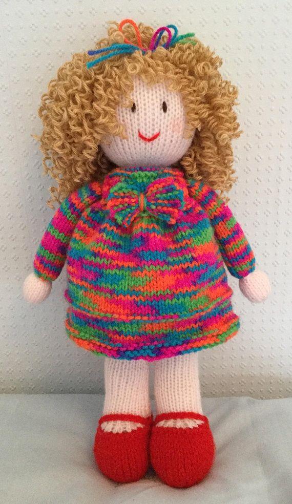 Hand knitted doll | Hand knit doll, Knitted doll patterns ...