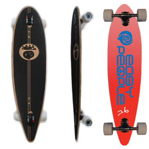 Easy People Longboards Classic Pintail Drop through Lowrider Longboard Complete PDT-0 Push Positive Red