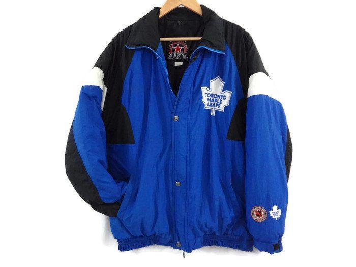 Toronto Maple Leafs Jacket Vintage 90s Large Nhl Hockey Jacket Toronto Jackets Vintage Outfits Clothes