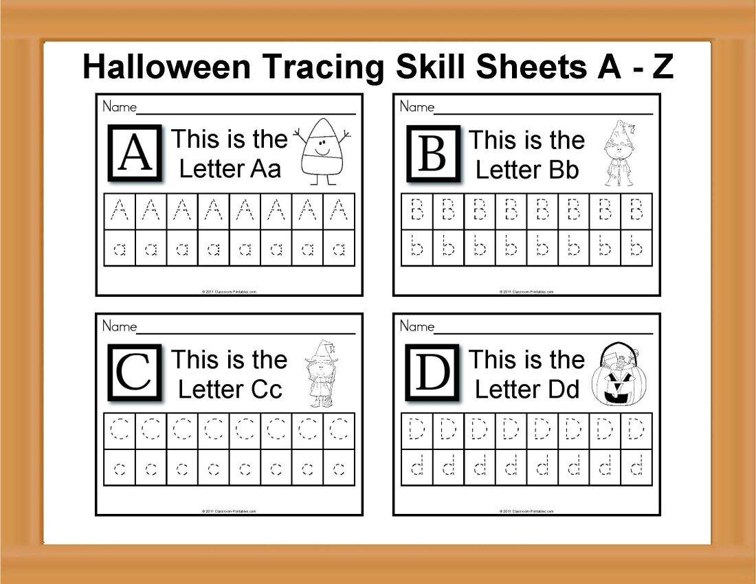 Halloween Tracing Skill Sheets