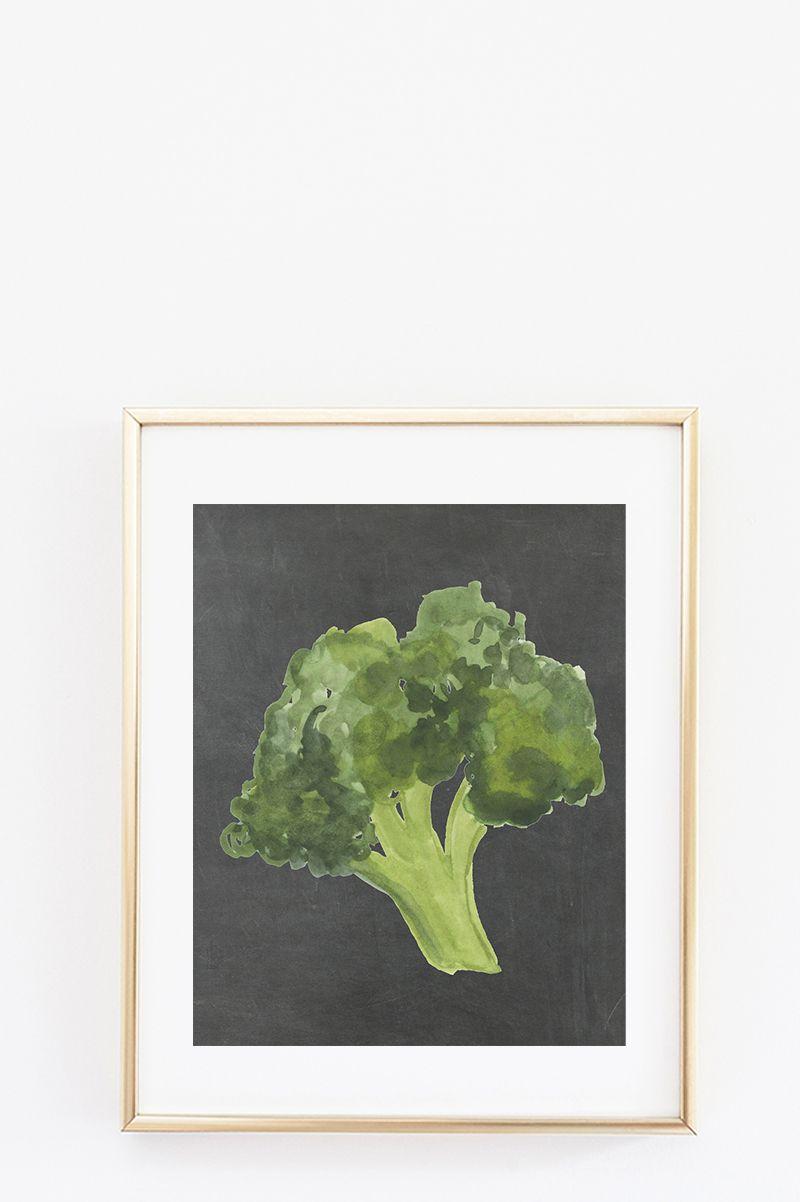 Free kitchen wall art printables veggie art prints do it
