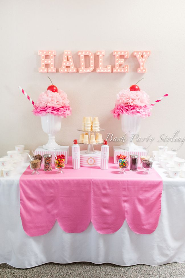 Ice Cream Party Hadley is 1 Birthdays Birthday party ideas and