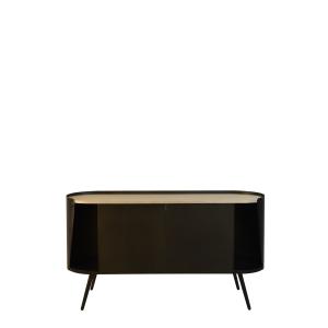 Buffet de salon petit meuble bar tv m tal noir ch ne meubles rangements meuble rangement - Petit bar de salon ...