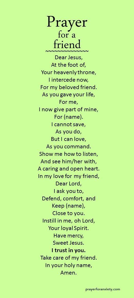 Prayer For A Friend Inspiration Prayers Prayer For A Friend Pray