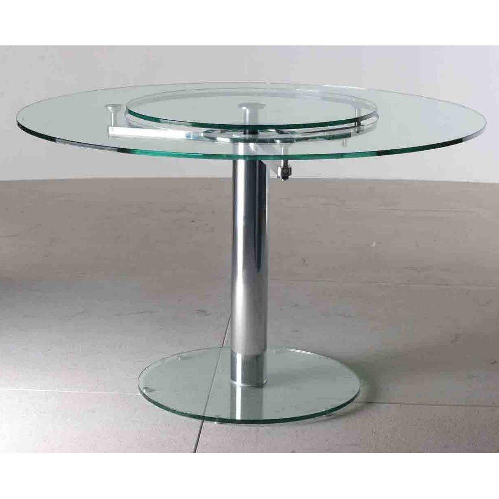 Beau Round Dining Table With Built In Lazy Susan