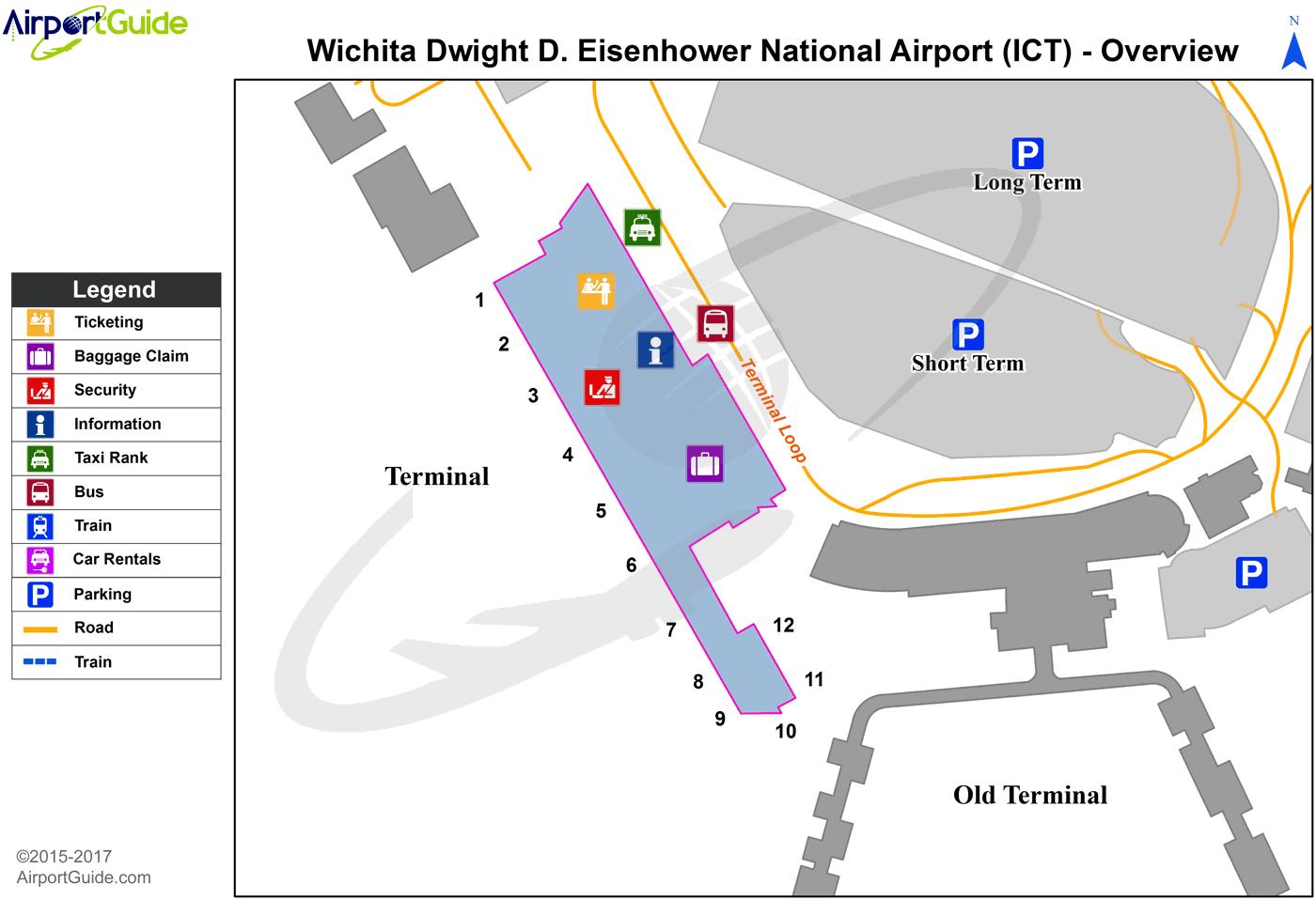 Wichita Wichita Dwight D Eisenhower National (ICT
