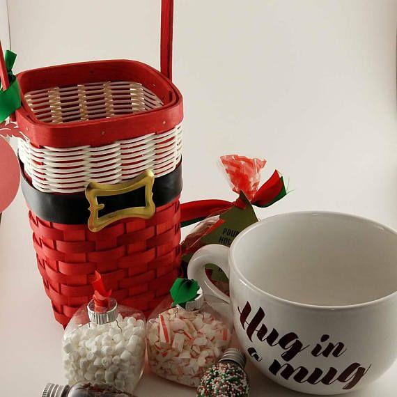 Santa Basket Hot Cocoa Bar/ Teacher Christmas Gift/ Coworker ...