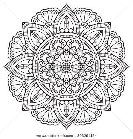 Flower Mandalas. Vintage decorative elements. Oriental pattern ...