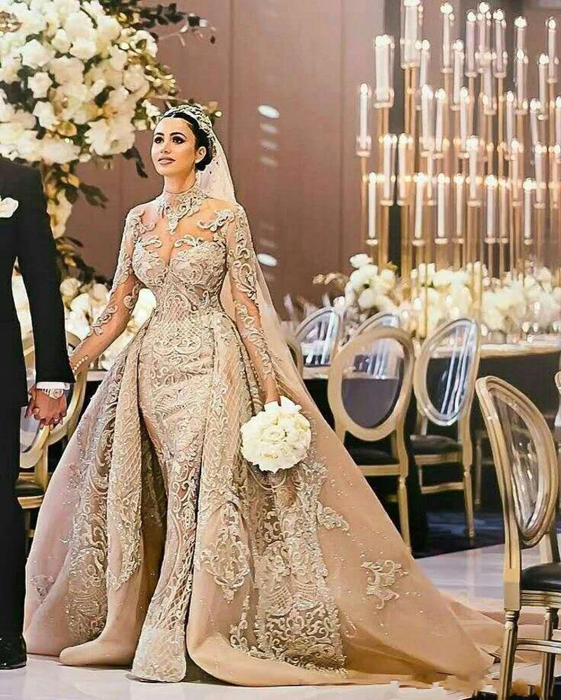 Luxury Vintage Arab Muslim Lace Wedding Dress 2019 Dream Wedding Dresses Beautiful Wedding Gowns Wedding Dresses,Short White Plus Size Wedding Dresses