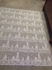 White Lace Lighthouse design  Design Shower curtain
