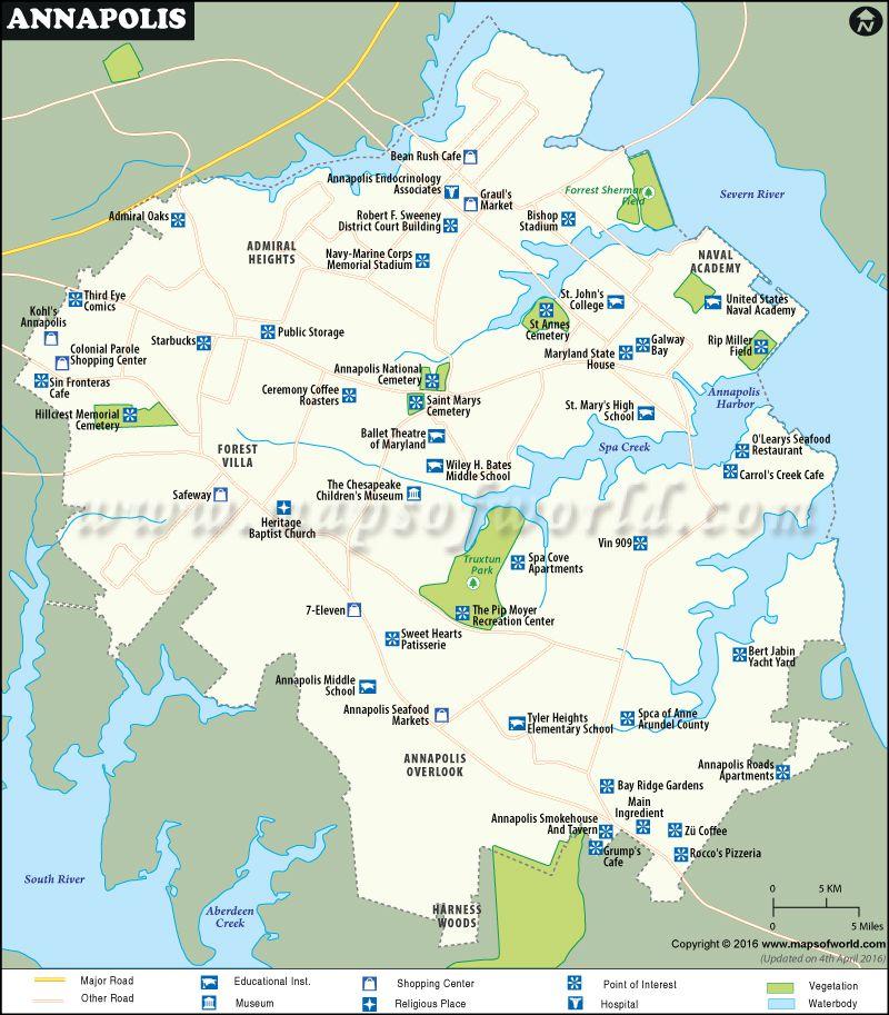 Annapolis Map World information Pinterest City maps