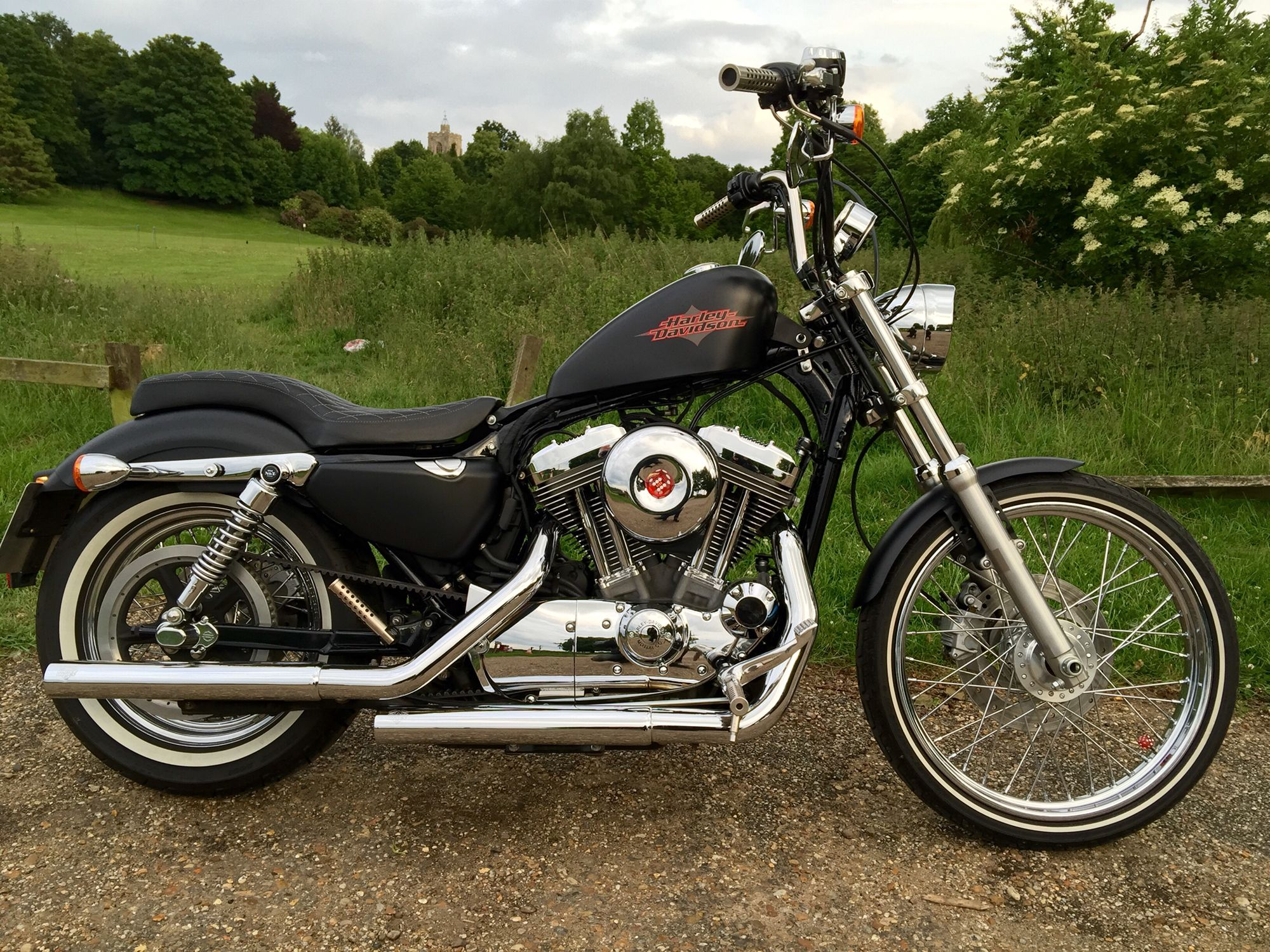 My harley davidson sportster 72 with home made tank lift wire tuck coil
