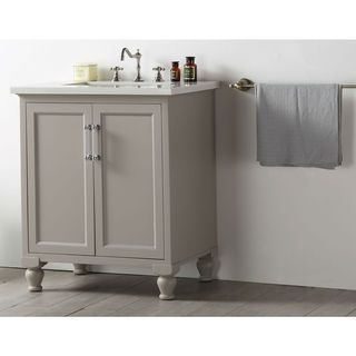Legion Furniture Quartz Top 30Inch Warm Grey Single Bathroom Prepossessing Bathroom Vanity 30 Inch Design Inspiration