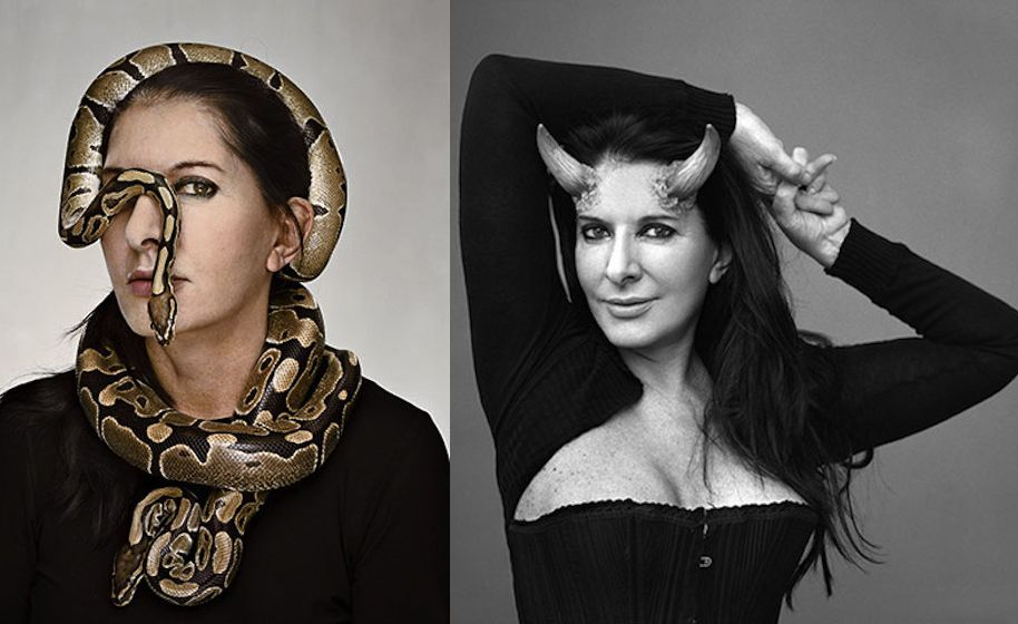 Marina Abramovic snake horns