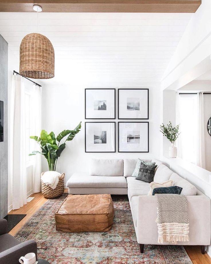 Boho Modern Living Room: Modern Boho Decor #home #style