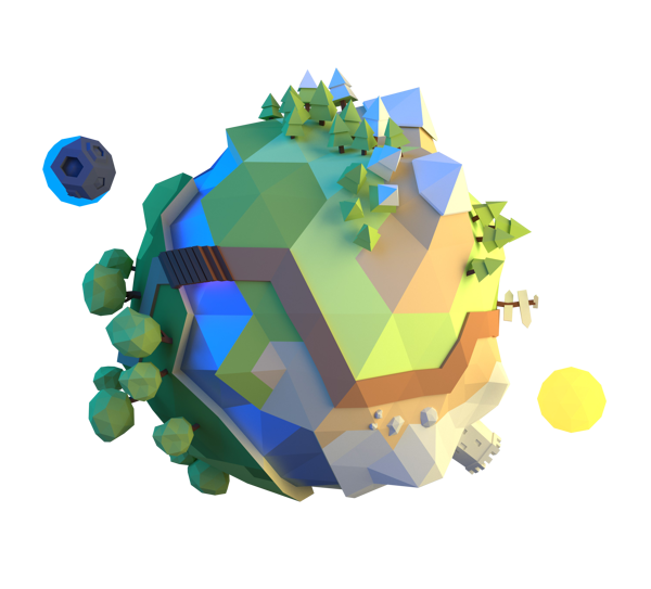 Little by Alex Pushilin, via Behance Low poly