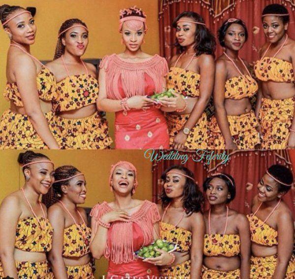 Igbo Nigerian Wedding: Brides, Grooms And Bridesmaids