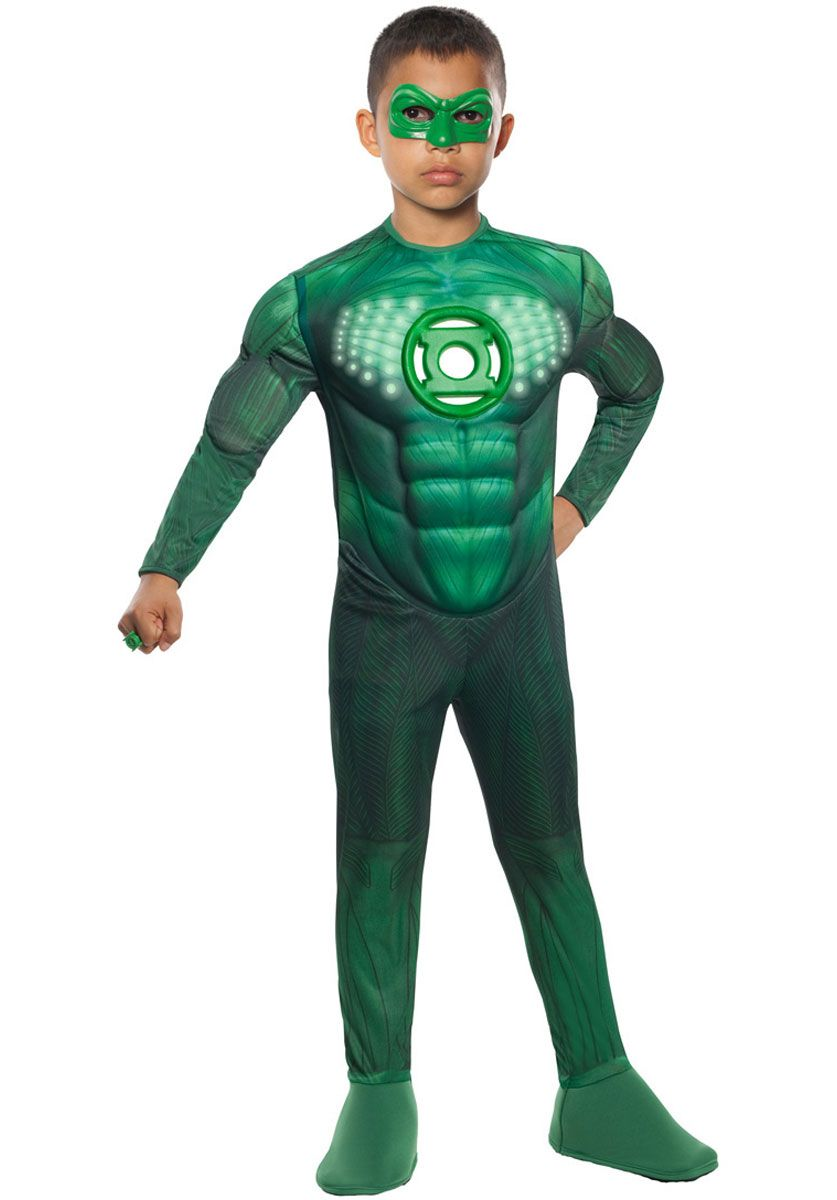 Child Green Lantern Deluxe Muscle Light Up Costume - Superhero at Escapade™ UK  sc 1 st  Pinterest & Child Green Lantern Deluxe Muscle Light Up Costume - Superhero at ...