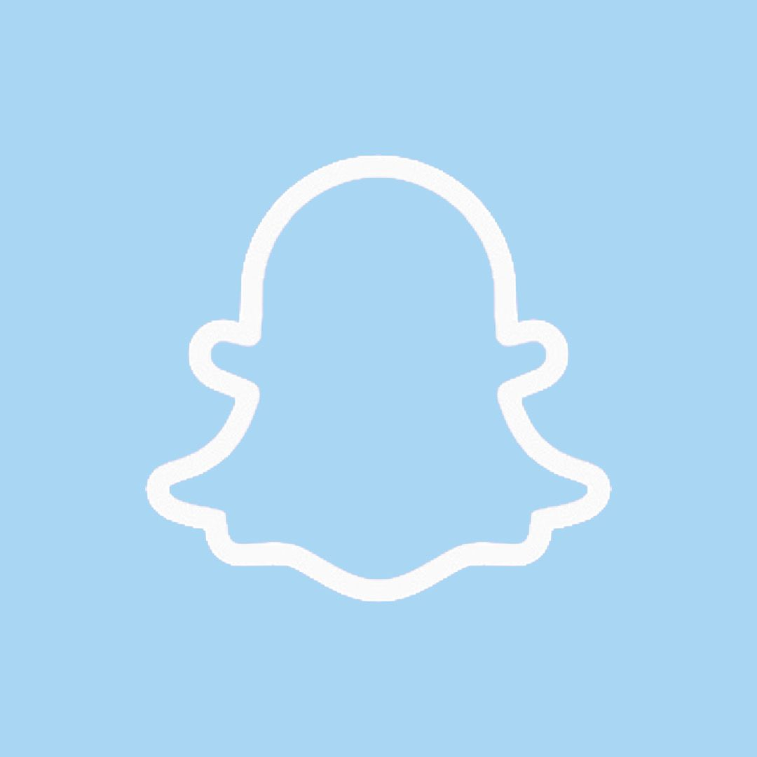 Snapchat Icon Light Blue In 2020 App Icon Iphone Layout Calender App