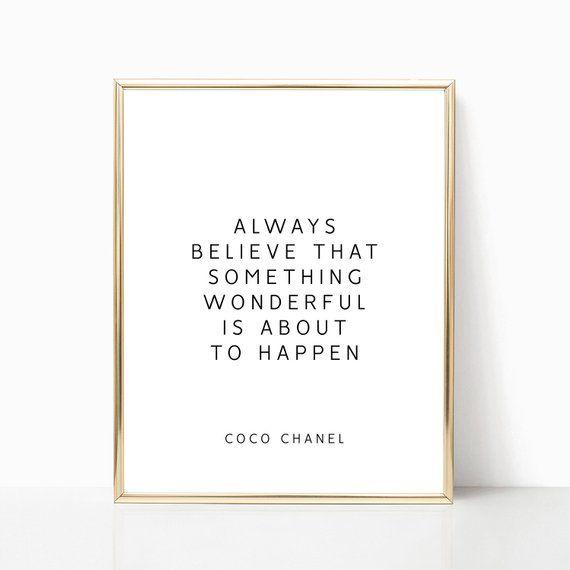 Coco Chanel quotes, PRINTABLE art, Coco Chanel Decor ...