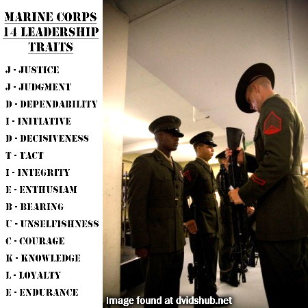 Marine Corps Leadership Traits Usmc Marine Corps Marines Usmc