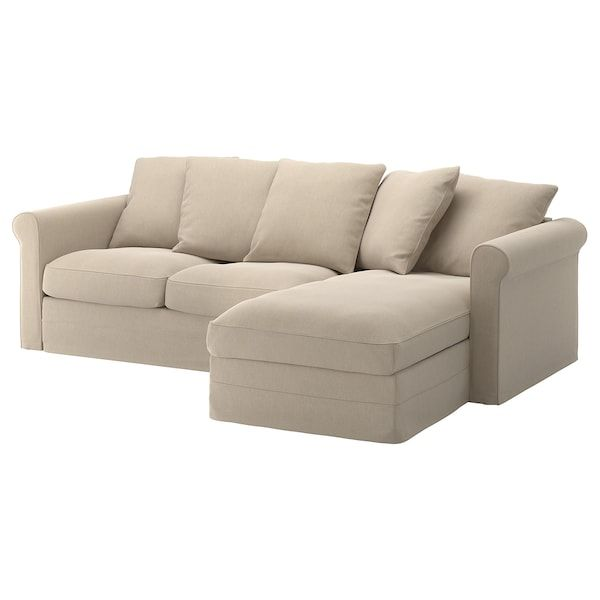 Gronlid 3er Sofa Mit Recamiere Sporda Naturfarben Ikea Deutschland In 2020 Cheap Sofa Sets Cheap Sofas Ikea Sofa