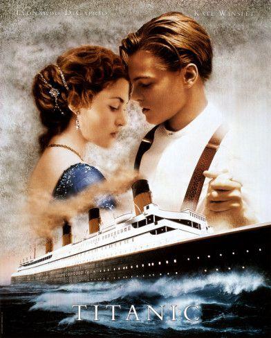 Titanic Movie Leonardo Dicaprio Kate Winslet Poster Print Print