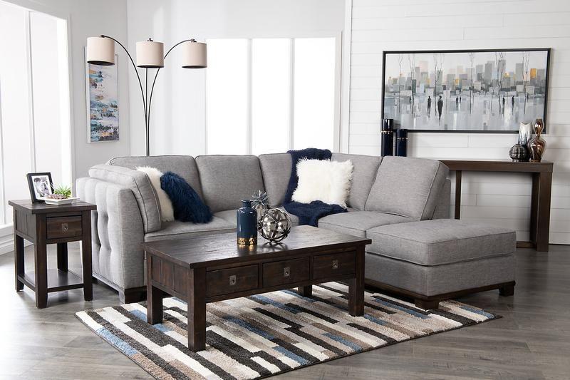 Sofa Sectionnel De Gauche Oakdale 2 Pieces En Tissu D Apparence